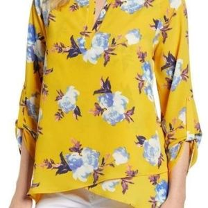 Nordstrom Gibson Floral X Blouse